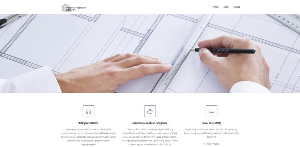 Szeroko rozumiana działalność projektowa, między innymi budynków jednorodzinnych, gospodarczych i magazynowych.